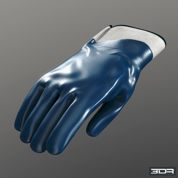 3d model nitrile gloves industrial