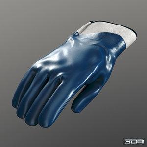 3d model nitrile gloves industrial