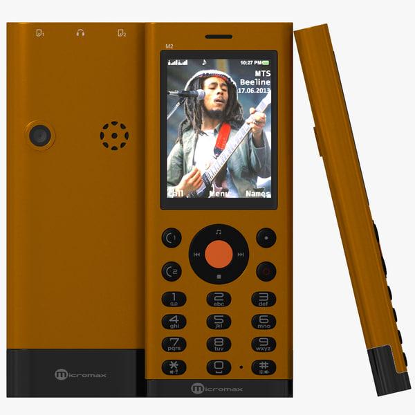 3d micromax m2 orange