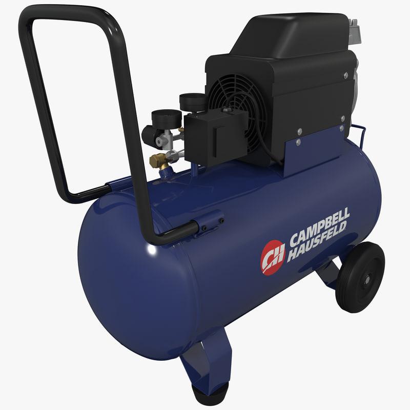 3d model oil air compressor campbell