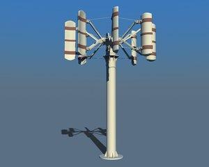 3d model power wind turbine
