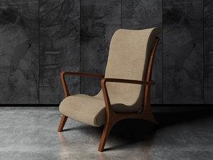 3d vladimir kagan chair model
