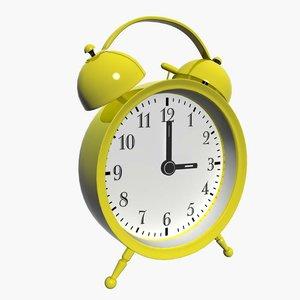 alarm clock 3d fbx