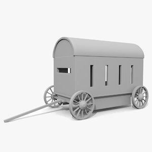 3d model medieval war wagon