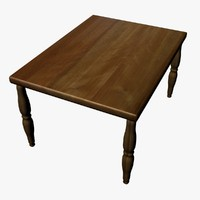 wooden dining table 3d model