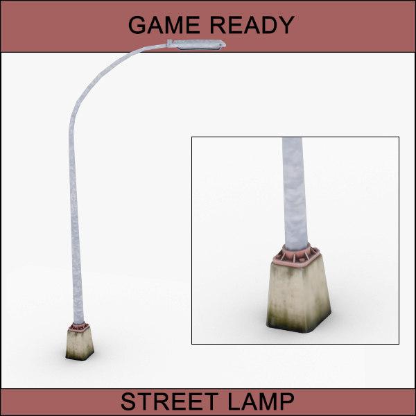 free street lamp 3d model