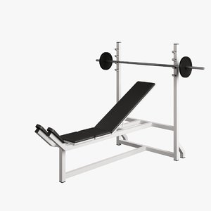 3d fitness supine bench model