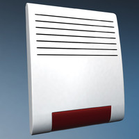 wireless alarm beacon 3d model