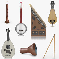 3d model realistic turkish musical instruments