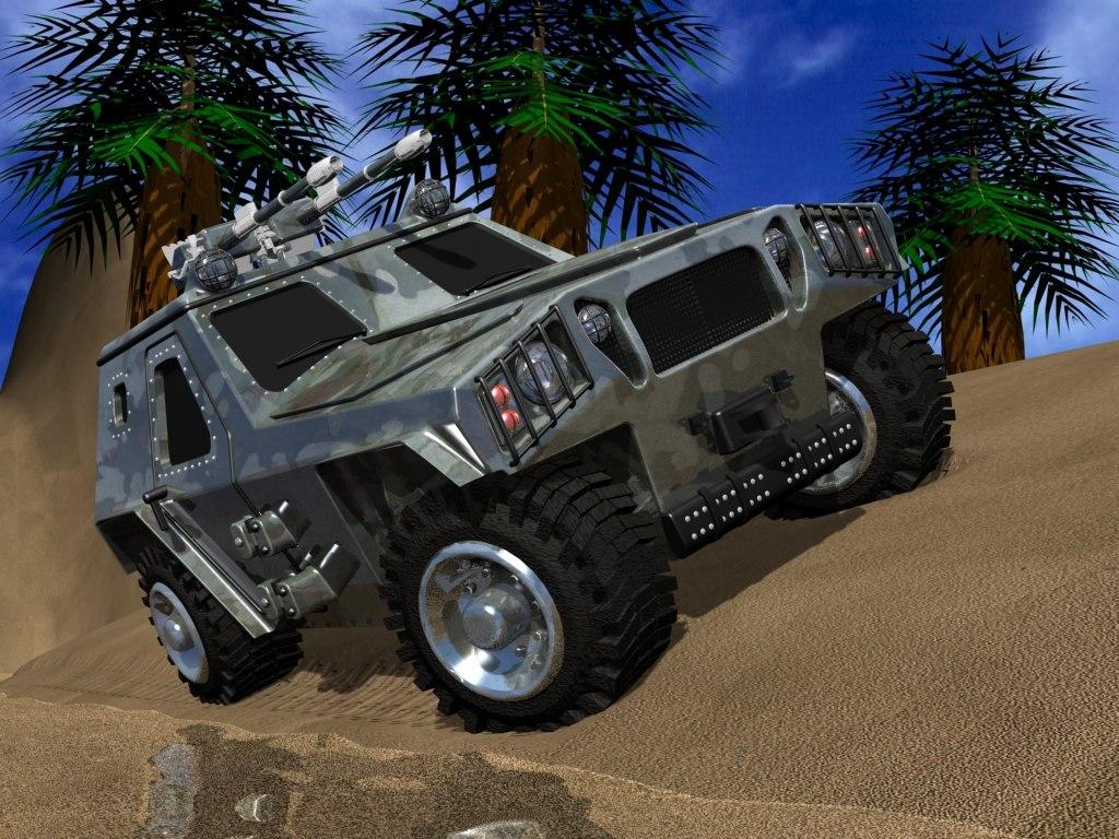 3d aligator vehicle