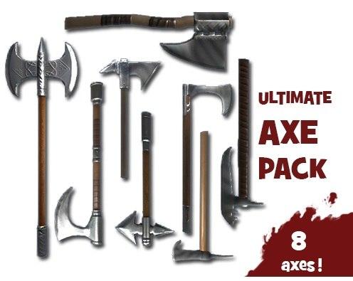 3d model axe wars ax