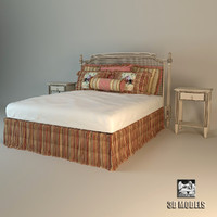 roche bobois bed provence 3d model