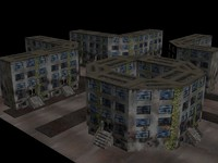3d model old dirty town