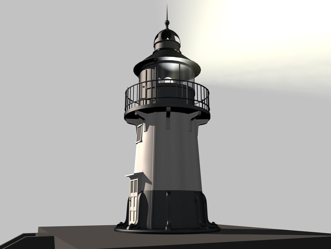 hams bluff lighthouse 3d model