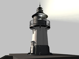 hams bluff lighthouse 3d model