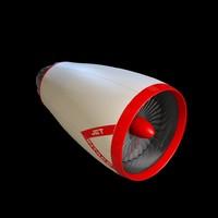 jet turbine engine commercial 3d c4d