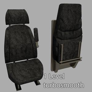 seats vehicle 3d max