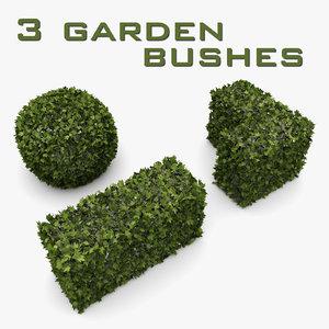 bushes garden 3d model