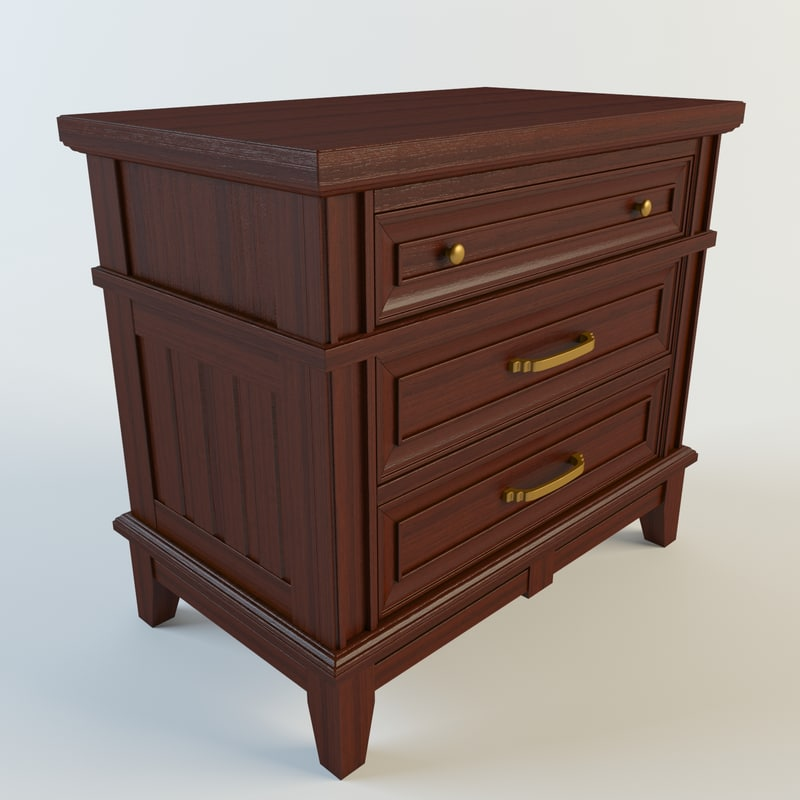 3d model stand nightstand