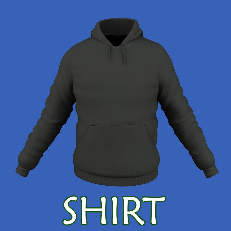 3d male shirt