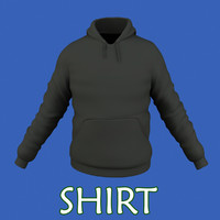 free male shirt 3d model
