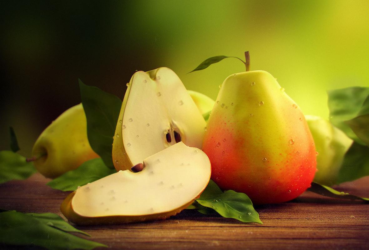 3d realistic pears model