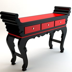 table chinese 3d model