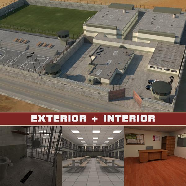 3d model prison complex