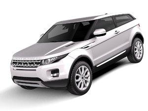 range evoque 2012 3d model