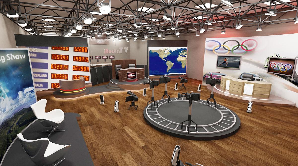 3d studios scene model