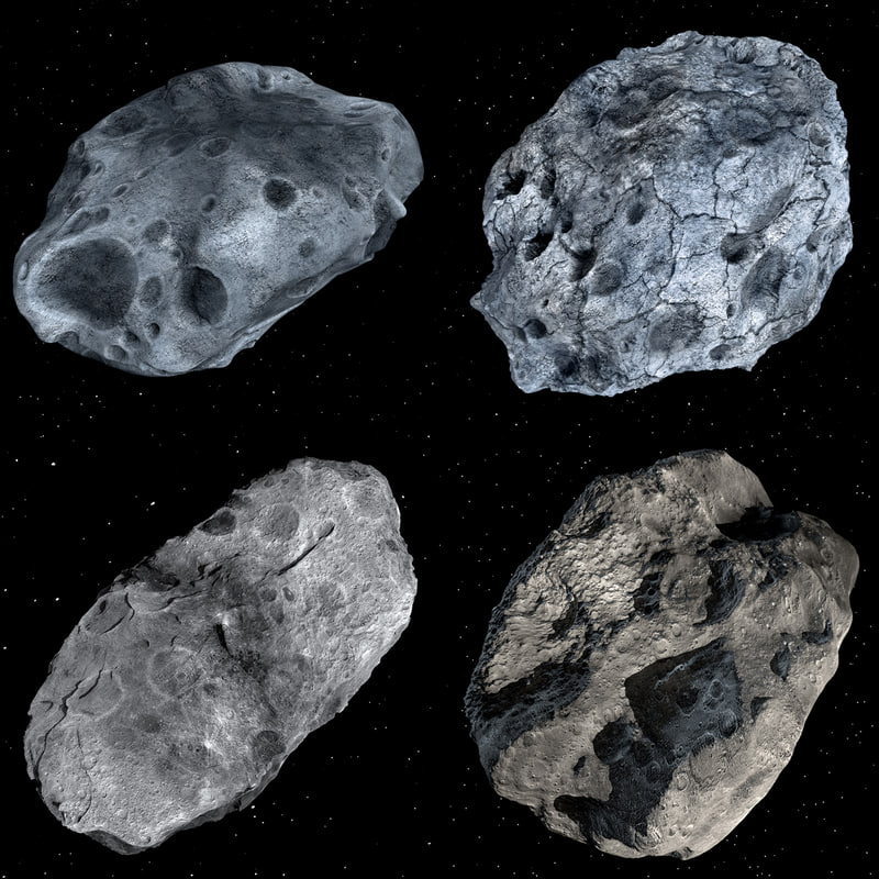 modeled asteroids 3d 3ds