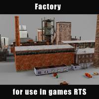 3d model of factory industrial structure