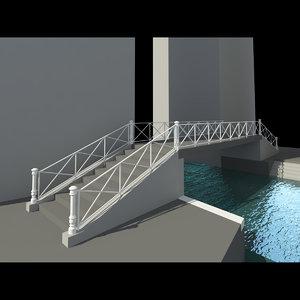 3d model real bridge venice