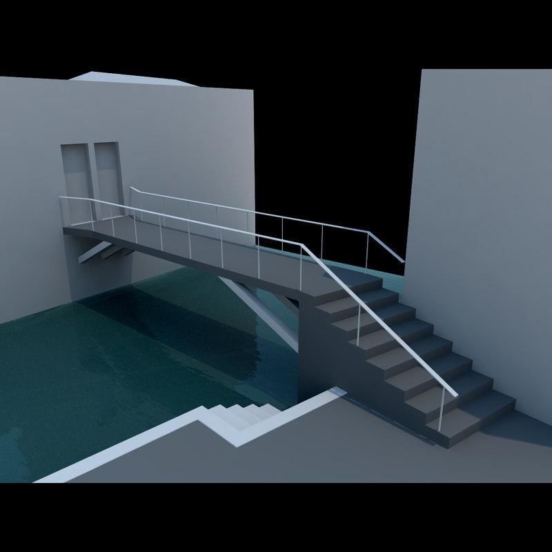 3d real bridge venice model