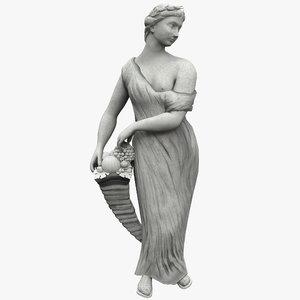 abundance statue 3d