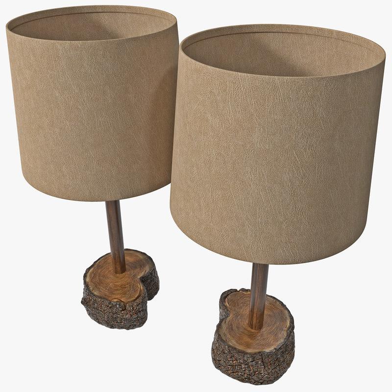 3d accent lamp model