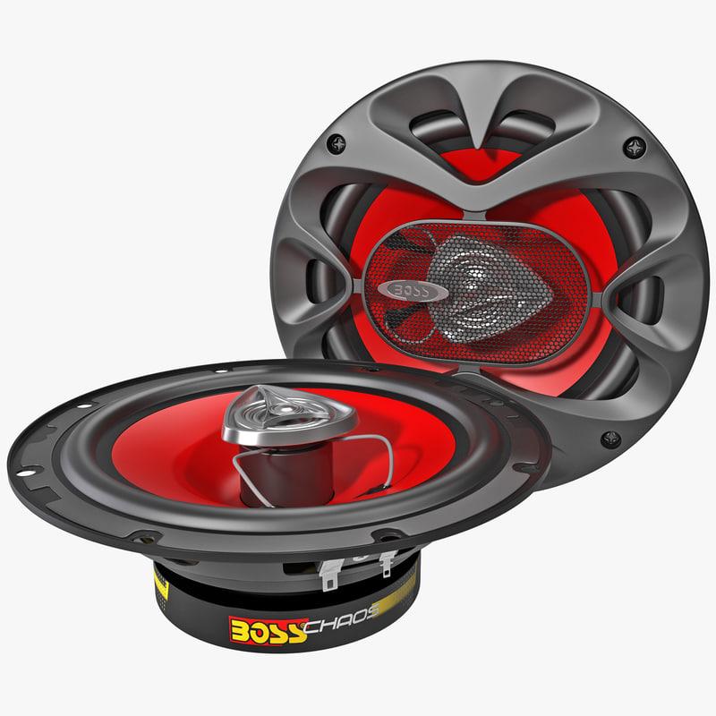 3d model car speaker boss ch6520