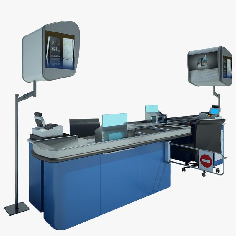 3d counter cash shop
