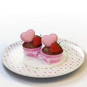 3d cupcake 29 model