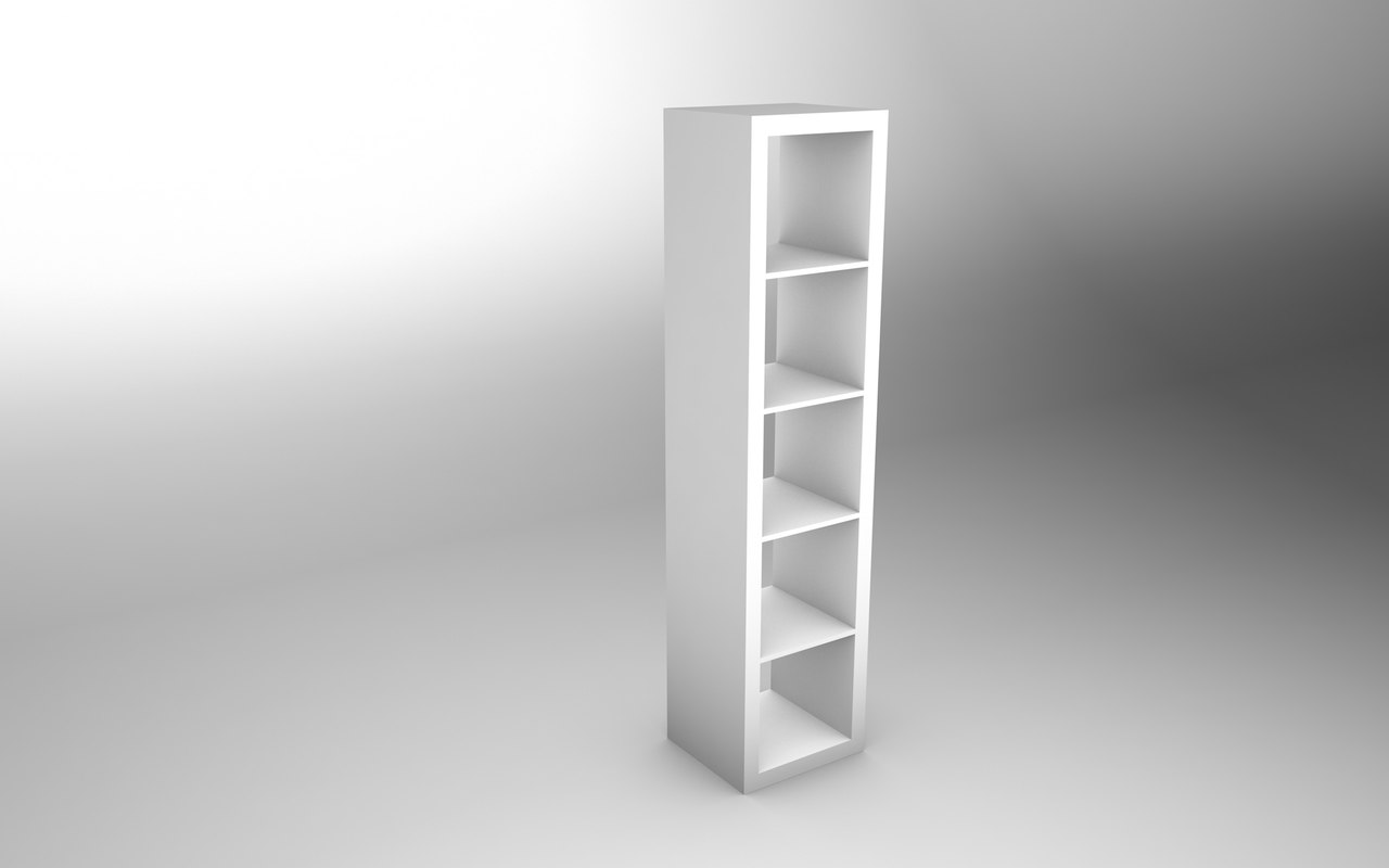ikea expedit 1x5 3d model