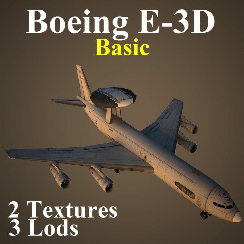 3d boeing basic aircraft 3