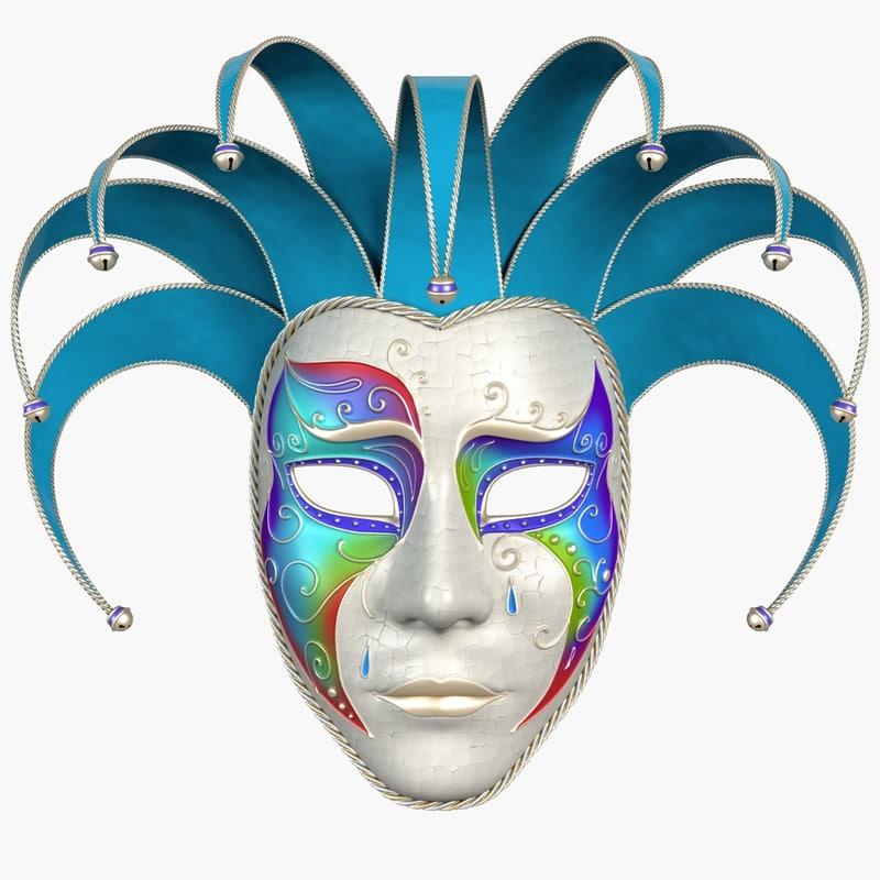 mask pierrot 3d model