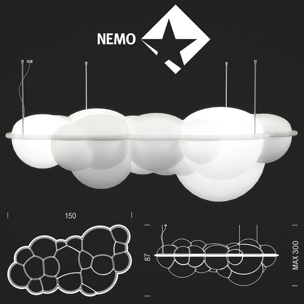 nemo nuvola lamp 3d model