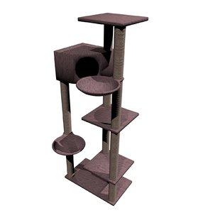 cat climbing tower obj