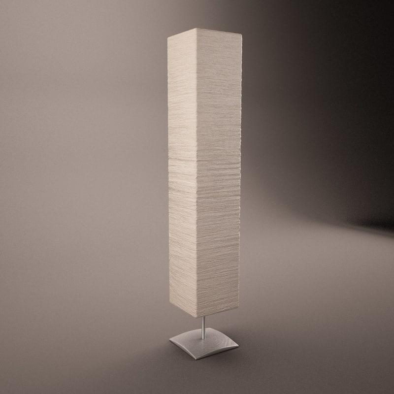 standing paper light 3d model