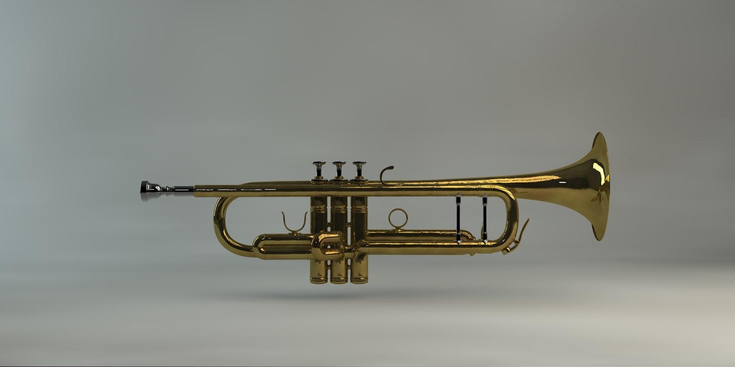 trumpet brass dxf