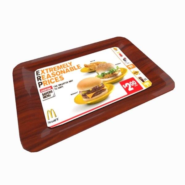 3d service tray