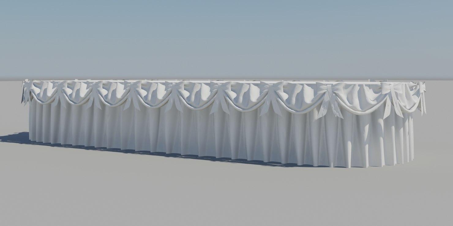 3d table cloth model
