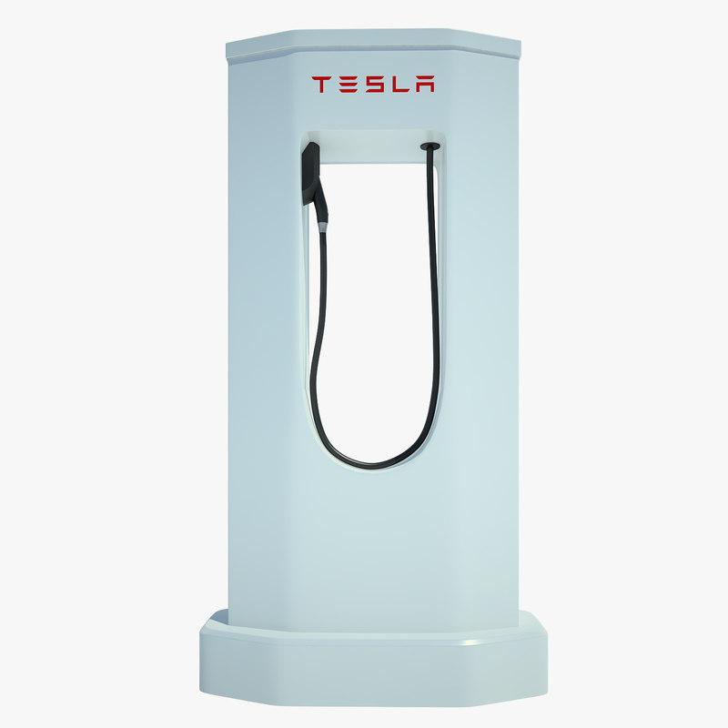 tesla electric car 3d model