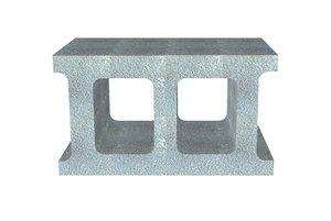 3d model cement cinder block